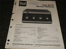 (1) Dual  MV 61    Service - Anleitung