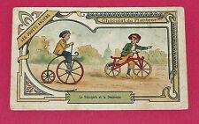 CHROMO 1890-1900 CHOCOLAT DU PLANTEUR JOUETS ANCIENS VELOCIPEDE DRAISIENNE