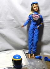 Barbie Doll Nascar 50Th Anniversary Blonde Hair + Accessories New Out Of Box