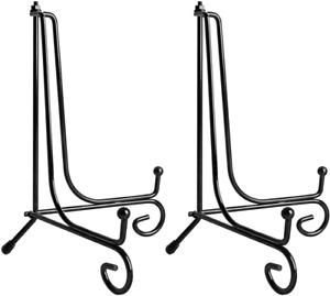 Teamkio 2 Pack Improved Anti-Slip 10 Inch Plate Holder Display Stand, Picture Fr