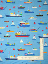 Boat Sailboat Ship Nautical Cotton Fabric Timeless Treasures C6066 By The Yard