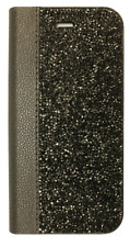 Black Jet Made with Swarovski Crystals Diamond Wallet Case Cover iPhone 7/8 Plus