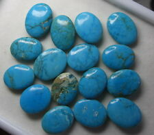 NATURAL 16 PCS OF BLUE  TURQUOISE  FROM INDIA 200CT GOOD FOR JEWELRY