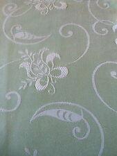 Vintage Retro French Satin Ticking Damask fabric ~ Pistachio Green