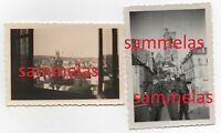 2 x WK2 Foto Clamecy Nievre Innenstadt Kirche Soldaten 1356