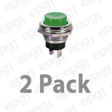 SPST (N/O) MOMENTARY ON GREEN PUSH BUTTON SWITCH 4AMPS @ 125VAC #66-2427-2PK