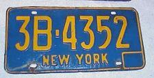 Original NY 1966 - 1973 License Plates New York 1972 1971 1970 1969 1968 1967