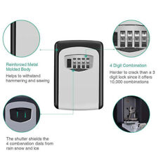 4Digit Outdoor High Security Wall Mounted Key Safe Box Code Secure Lock-StorageP