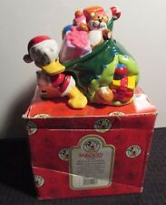 """1999 Enesco DONALD DUCK As Santa with Toy Bag 6"""" Bank NM C-2.5"""