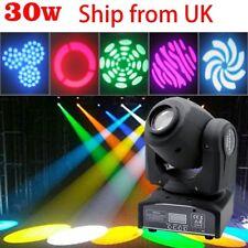 30W Moving Head Stage DJ Light RGBW Beam DMX512 Gobo Light Club Party Spot Light