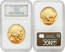USA 2007 Buffalo $50 Gold 1 oz Coin NGC MS69