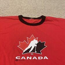 Team Canada Canadian National Hockey Team Ringer T Shirt Olympics Mens Large