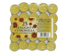Prices Citronella Tealight Candles Mosquito Fly Insect Repeller Pack of 25