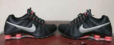 Nike shox junior shoes women 8.5 black grey hyper pink