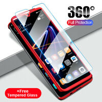 Shockproof 360° Armor Hard Case Cover+Tempered Glass For Samsung Galaxy A30 A50
