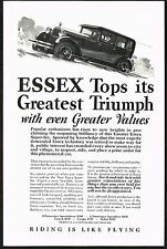 1927 Old Vintage Essex Super Six Car Automobile Co Art Print Ad