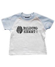 Babybugz Baseball Top Shirt Baumwolle NEU blau weiß Bildung 3-6/6-12 Monate