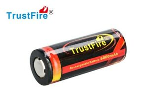 Trustfire 26650 5000mAh 3.7V geschützte li-ion Akku