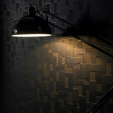 Contemporary Black Textured Checker Wallpaper - 10m Roll - Simple & Effective