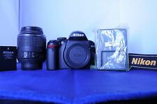 Nikon D D3000 10.2MP with 18-55mm VR lens. Super low shutter count of '733'.