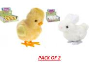2x JUMPING BUNNY & CHICK Clockwork Kids Toy Birthday Gift Easter Bag Filler Toys
