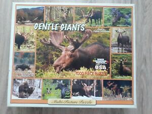 White Mountain 1000 piece jigsaw Gentle Giants. Extra large pieces.Complete.