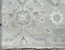 Gray Field Oushak Design Oriental Hand Woven Wool Rug / Carpet Fine 8.10 x 11.9