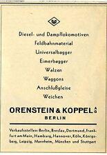 Orenstein & acoplamiento AG Berlín diesel locomotoras publicitarias histórica de 1937