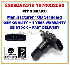 SUBARU IMPREZA FORESTER Mass Air Flow meter Sensor 22680AA310 8ET009142-911 OE