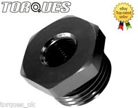 """AN -8 (AN8 -08) ORB Hex Head Port Plug with O ring Boss With 1/8"""" NPT Port Black"""