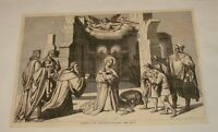 1880 magazine engraving ~ THE ADORATION OF JESUS BY MAGI