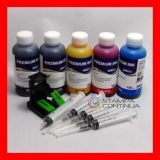 Kit inchiostro ricarica cartucce Nero e Colore per HP N°21 27 56 / 22 28 57