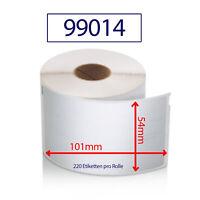 Etiketten 99014 kompatibel zu DYMO 54x101mm 220 Label / Rolle Adressetiketten