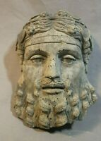 Aged Concrete Cement Greek God Dionysus Bacchus Outdoor Statue Ancient Ruin Copy
