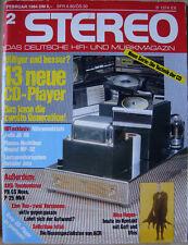 Stereo 2/84 Jadis JA 80, Outsider Jota, AKG P8 ES Nova, AKG P25, Sony CDP-701ES