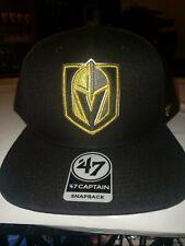 Vegas Golden Knights '47 Brand Captain Snapback Adjustable Cap Hat NHL Hockey