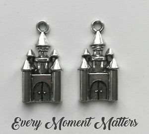 10 x Tibetan Silver CASTLE FAIRYTALE HARRY POTTER HOGWARTS CHATEAU 28x14mm Charm