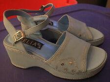 *Vintage* 90s dEliA*s Baby Blue Sequin Platform Party Shoes / Sandals - Size 6