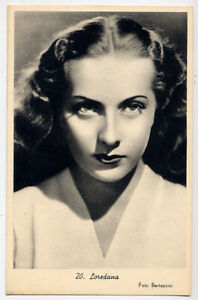 Cartolina originale di LOREDANA attrice italiana anni '40 (Venezia)