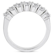 7 Round DIAMOND WEDDING RING Anniversary Gold Band 1.05 carat total F color VS