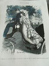 Nuit d'été Madame rentre seule dans le quartier Print Art Déco 1905