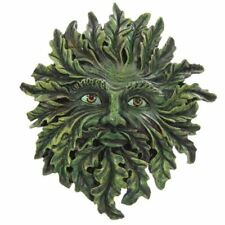 Green Man albero della vita DIPINTI A MANO gotico pagano Resina Muro Appeso Placca