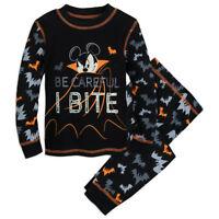 Disney Authentic Mickey Mouse Halloween PJ Pals Pajamas Boys Size 2 3 4 5 New