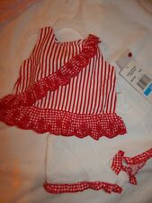 6445a9e25 NWT Rare Editions Girls 24 Months Red and White (2) Pc Picnic Short Outfit