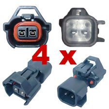 4 x Pluggen injectoren adapter - NIPPON DENSO (FEMALE) > BOSCH EV6 (MALE) plug
