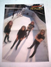 METALLICA canal barge Centerfold magazine POSTER  17x11 inches