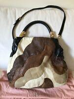 MIU MIU Graduated multicolored leather tote with Crystal Jewel Detailing