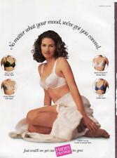 1998 HANES HER WAY PUSH-UP BRA FASHION AD -SEXY WOMAN IN LACE BRA-READY TO FRAME