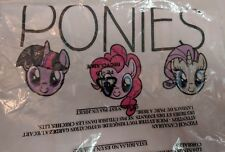 My Little Pony Girl's L T-Shirt White LOVE SMILE PONIES Twilight Rarity Pinkie