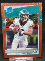 2020 Donruss Optic Jalen Hurts Choice Red Mojo Prizm Rated Rookie Eagles B95